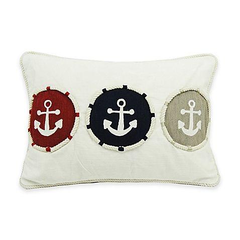 Newport Triple Anchor 20-Inch x 14-Inch Throw Pillow