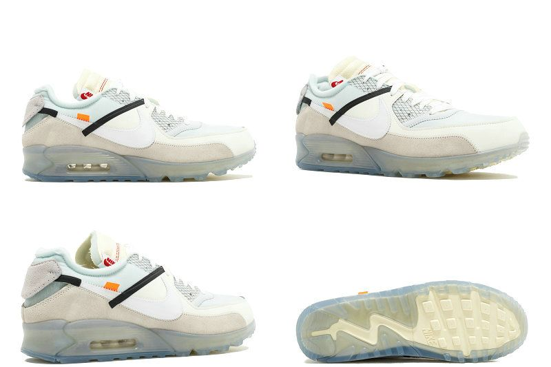 f38a58e296e nouvelle arrivee THE 10 NIKE AIR MAX 90 OFF White blanc aa7293 100 Sale  White blanc Muslin Youth Big Boys Shoes