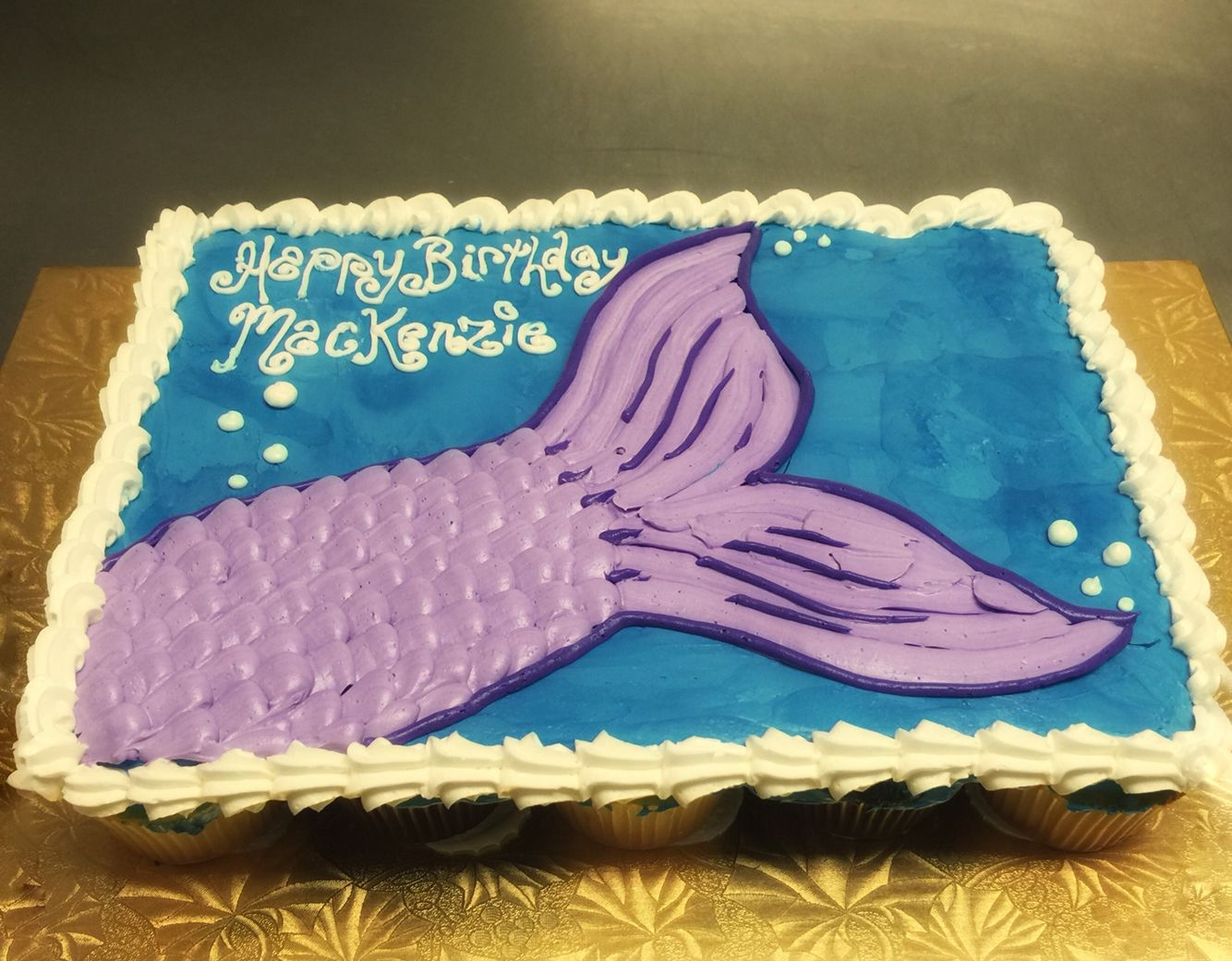 Mermaid tail design Muellers Bakery Specialty designs cakes