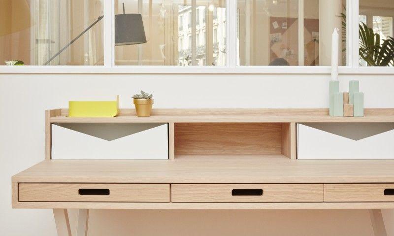 Bureau blanc kare caisson de bureau génial caisson de bureau