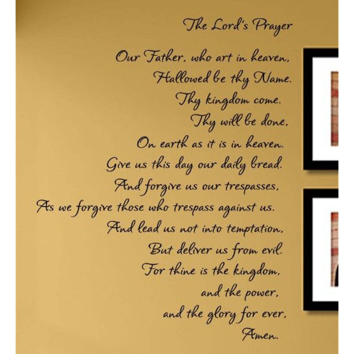 The Lord\'s Prayer Vinyl Wall Decals Quotes Sayings Words Art Decor ...
