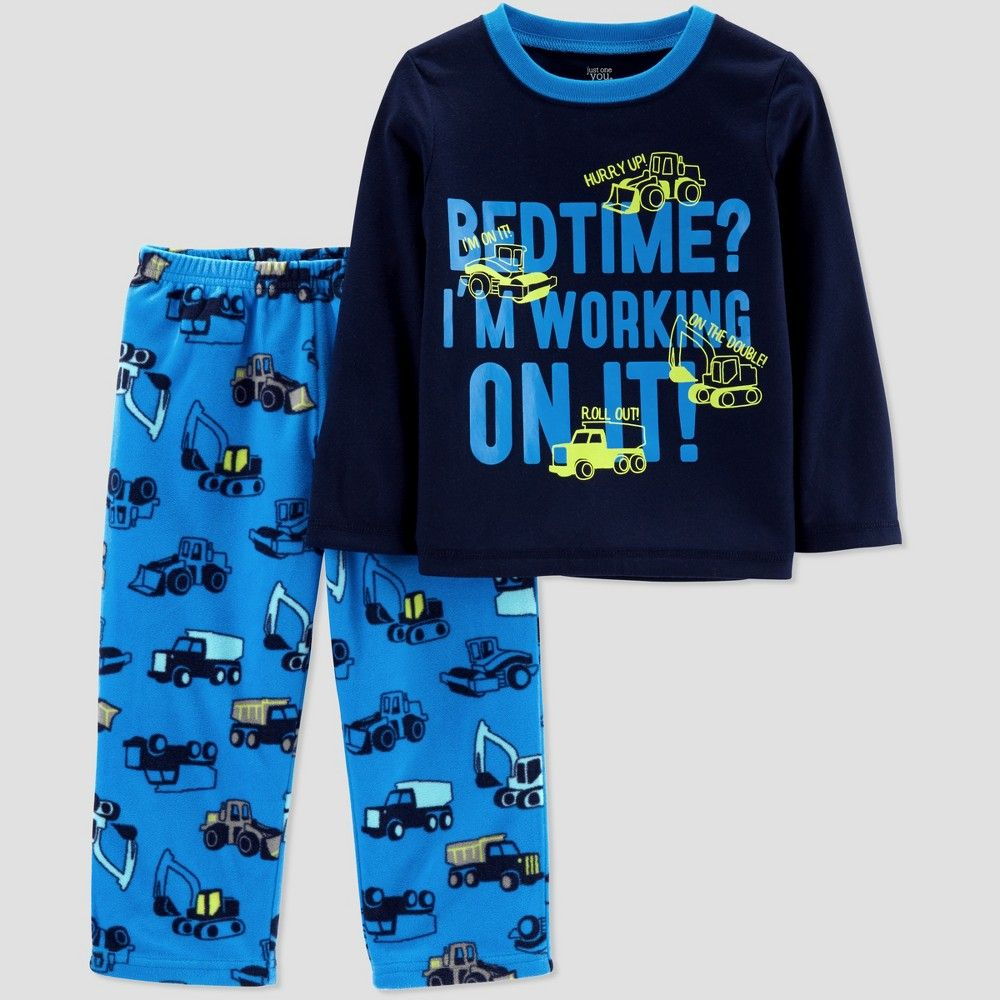 68cb09cc486a Toddler Boys  Construction 2pc Pajama Set - Just One You made by ...