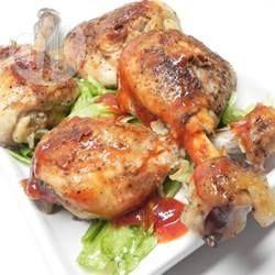 Gebackene Hähnchenschenkel für die Ernährung