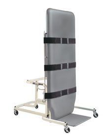 """Tilt indicator displays angle of tilt from 0 - 90°. Heavy-duty motor, reinforced steel frame, and extra-wide 34""""W x 77""""L top. Fixed footboard is 23""""W and 18""""D. Includes three extra-long patient safety straps and pneumatic hand controls that can be operated from either side."""