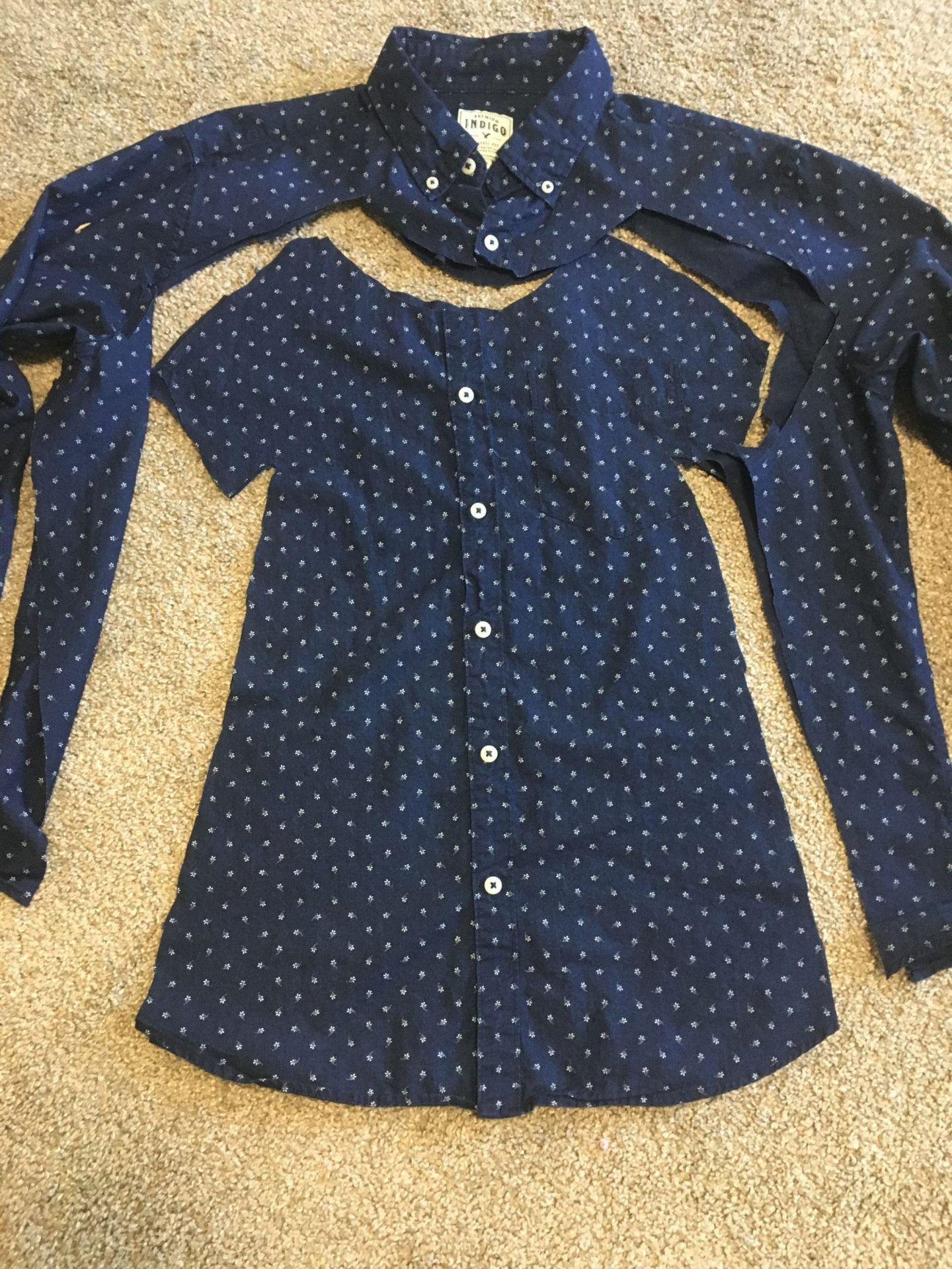 Comment faire une robe pour fille à partir d'une chemise de ville pour homme   – Sewing