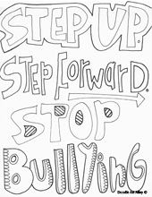 http://www.doodle-art-alley.com/bullying-coloring-pages.html ... - Bullying Coloring Pages Printable