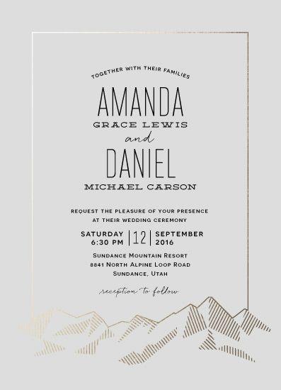 Wedding Invitations Mountain Vista Mountain Wedding Invitations Wedding Invitations Personalised Wedding Invitations