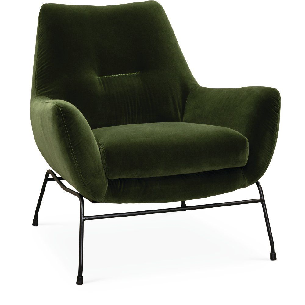 Enjoyable Mid Century Modern Olive Green Accent Chair Falkirk In Ocoug Best Dining Table And Chair Ideas Images Ocougorg