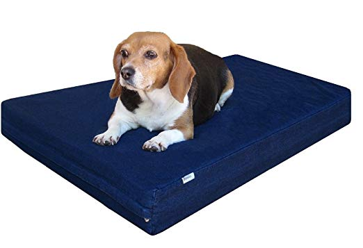 Dogbed4less Small Medium Gel Memory Foam Dog Bed Durable Blue