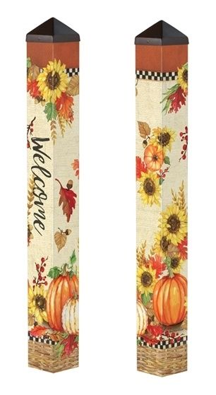 Fall Sunflower Welcome 3 Painted Peace Art Pole Products