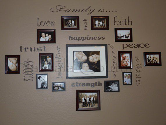 Love this cricut project do this on the landing wall of for Collage mural ideas
