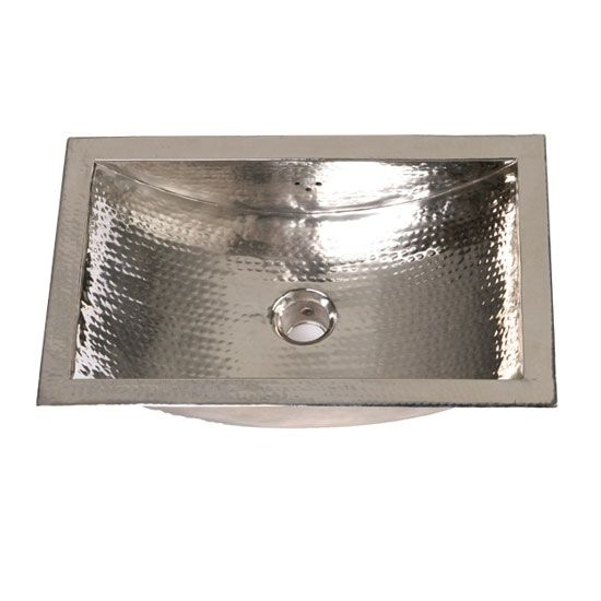 Nantucket Sinks Trn Specialty Metals Hand Hammered Nickel Trough Bathroom Sink 788 Bathroom Sink Brass Sink Sink