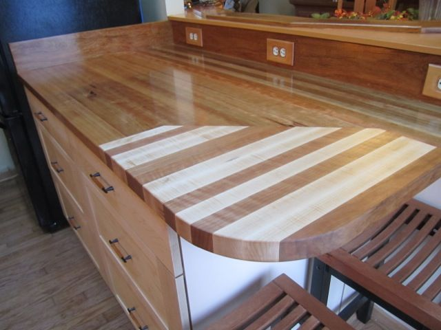 Cherry Countertop With Maple Wood Countertops Countertops Wood
