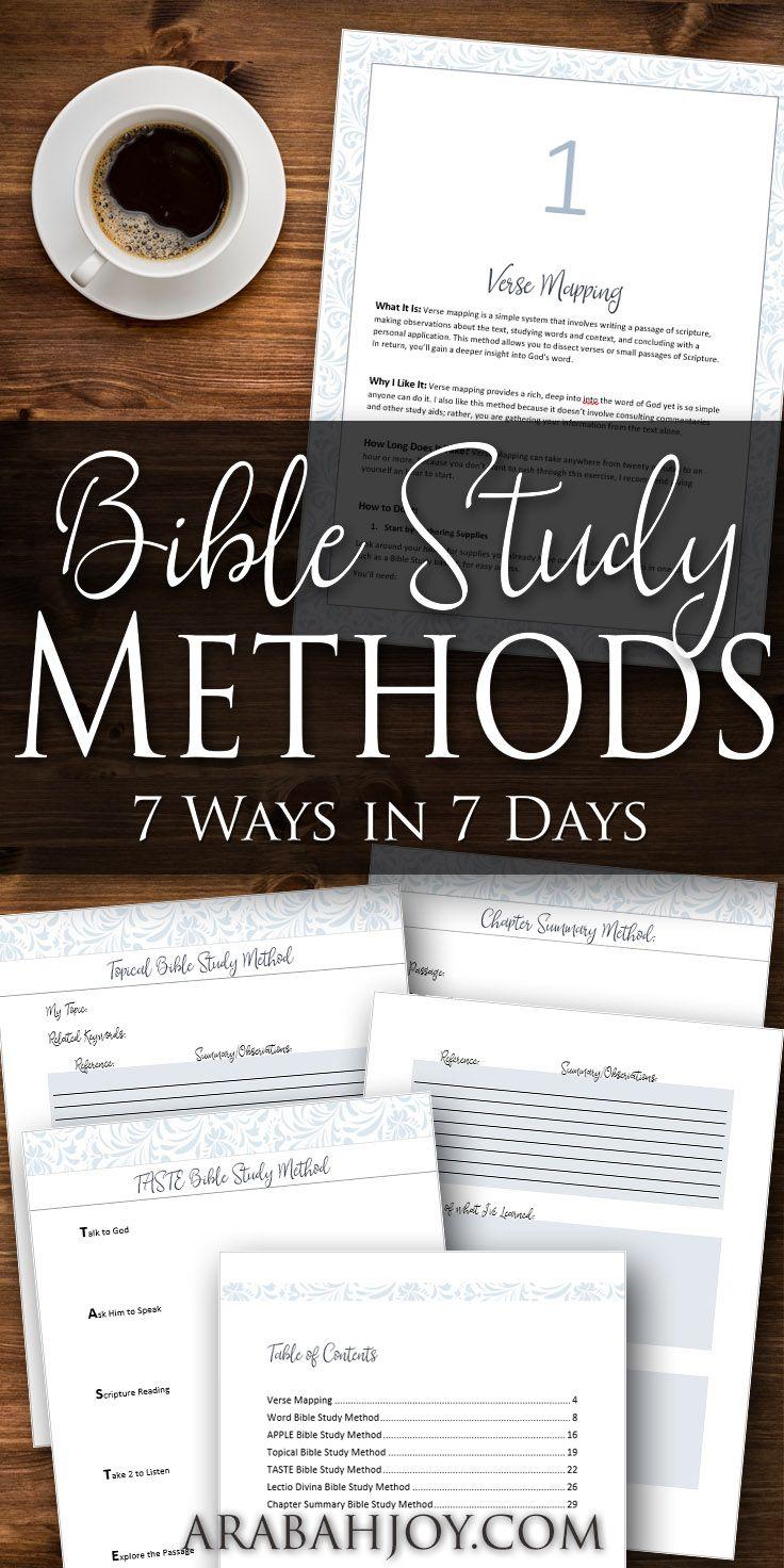 Workbooks workbook methods : How to Study the Bible: 7 Simple Bible Study Methods Every ...