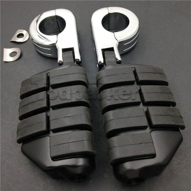 """1-1//4/"""" P-Clamp Crash Bar Highway Foot Pegs for Harley Dyna Sportster XL 883 1200"""