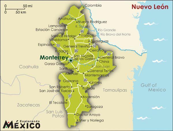 Nuevo Leon Mexico Mapa De Mexico Fotos De Mexico Trajes Tipicos De Mexico