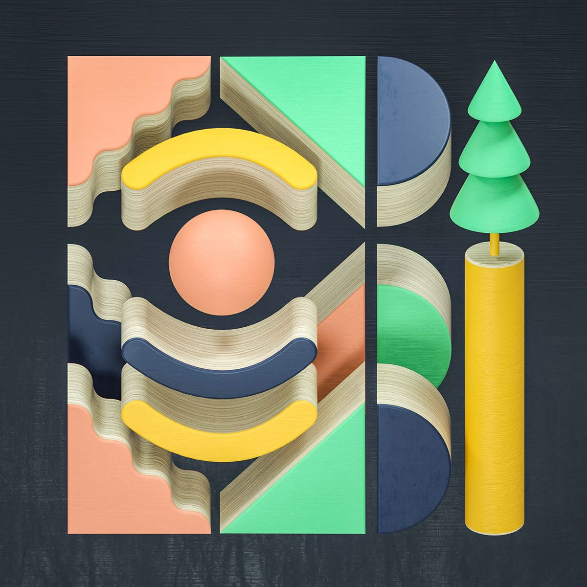 Geometric interpretations on Behance