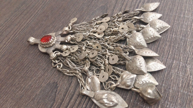 Vintage afghan kuchi pendant with tassels tribal pendant fashion items similar to vintage afghan kuchi pendant with tassels tribal pendant fashion pendant nomad jewelry gypsy jewelry ethnic jewelry boho jewellery on aloadofball Images
