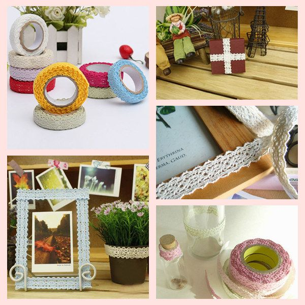 1.7M Bilateral Lace Fabric Tape Self Adhesive 9 Colors #fabrictape