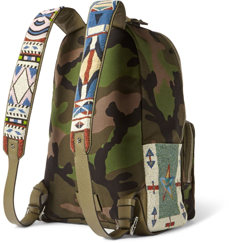 Valentino - Camouflage-Print Canvas Backpack $4595. Details.