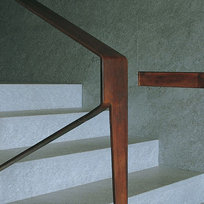 Stairs interior architecture clever handrail solution for Stair and railing solution