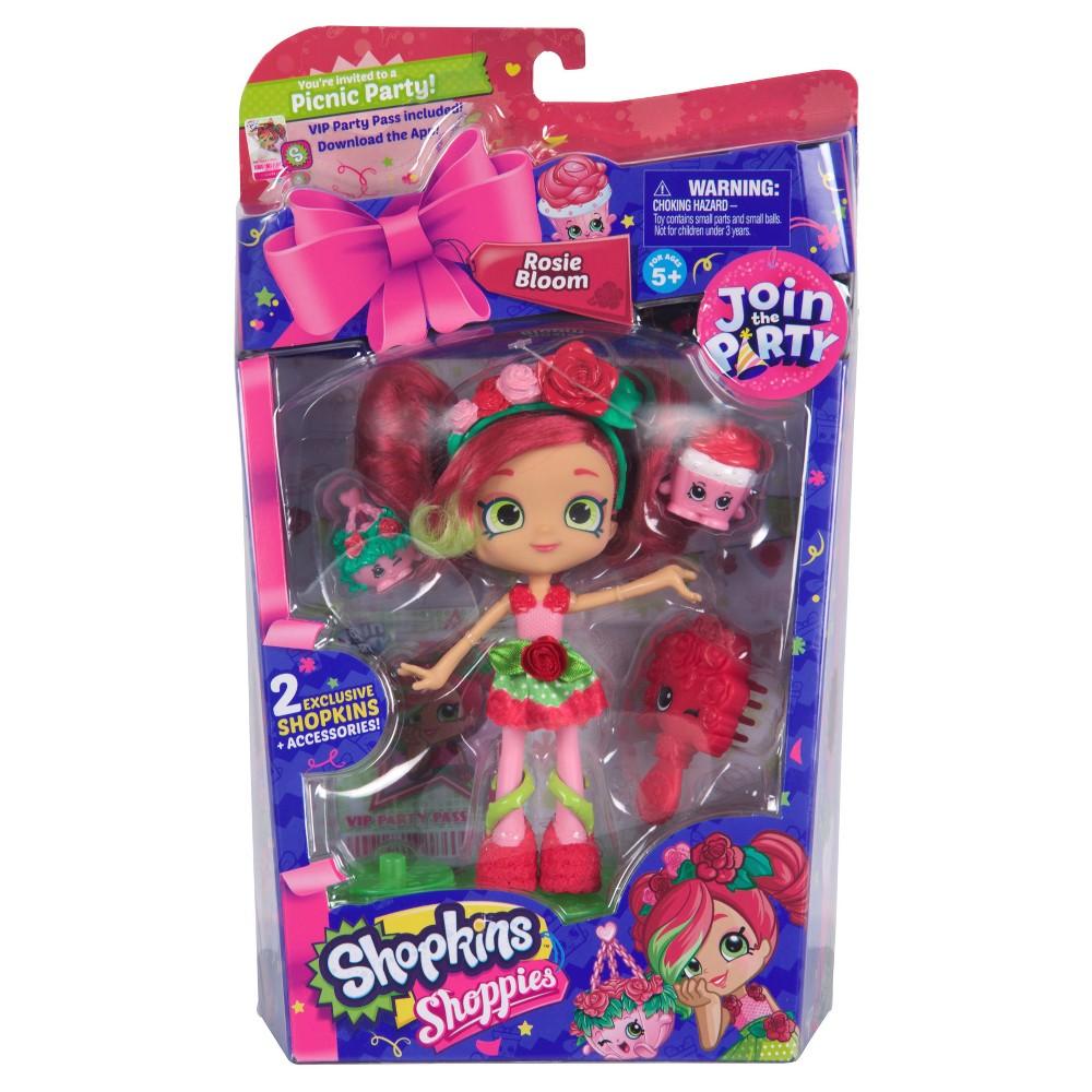 Shopkins Shoppies Season 7 Doll Rosie Bloom With 2 Exclusive Shopkins
