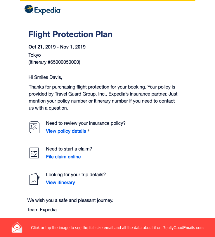 Expedia Sent This Email With The Subject Line Your Travel