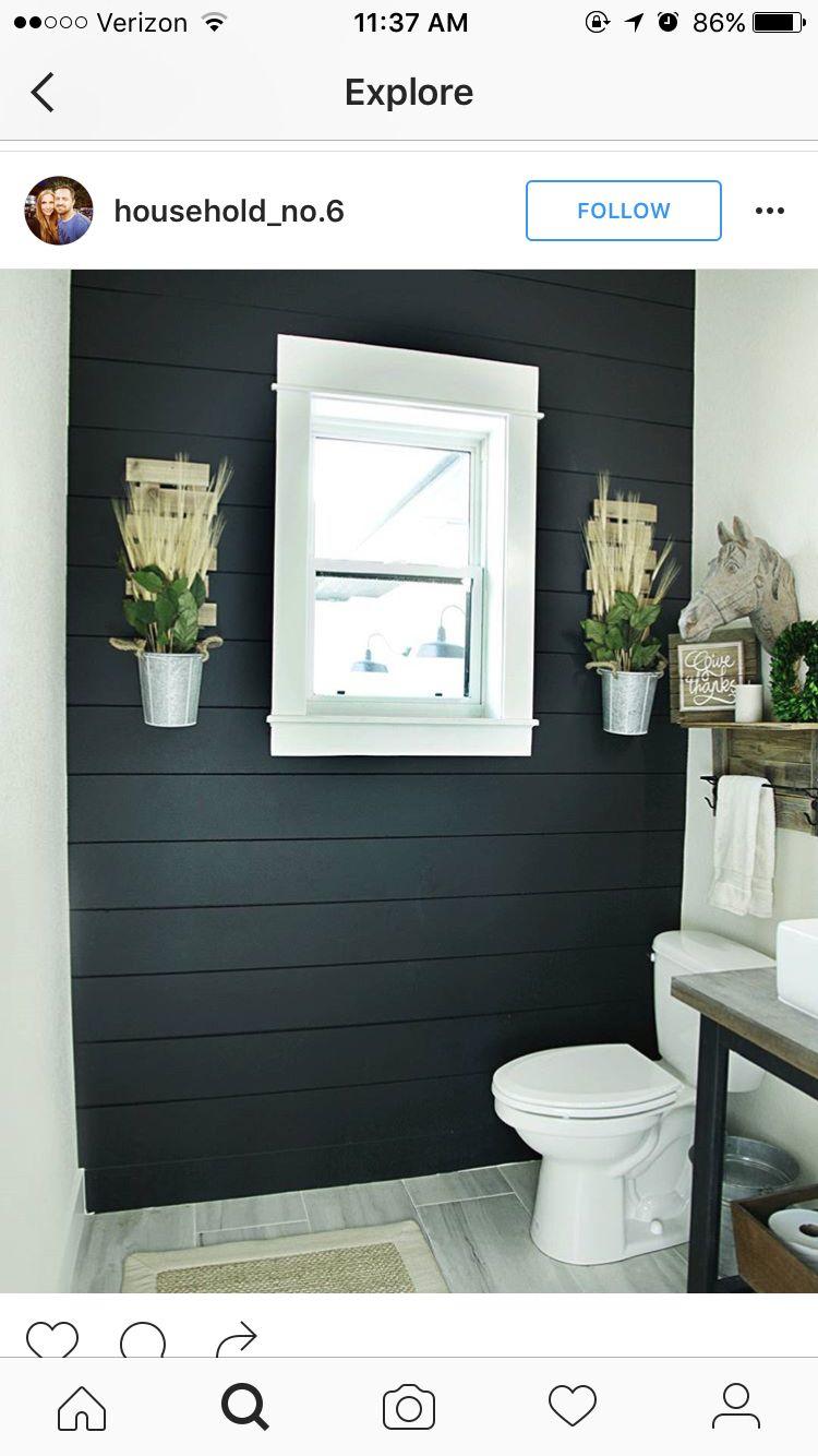 Pin By April Paraschos On Bathrooms Bathroom Farmhouse Style Modern Farmhouse Bathroom Shiplap Bathroom