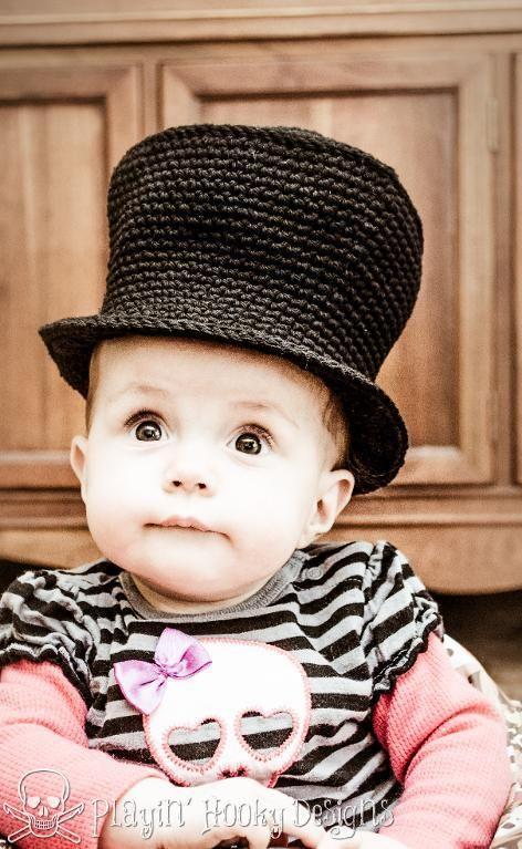 4) Name: \'Crocheting : Baby Top Hat   halloween crochet   Pinterest