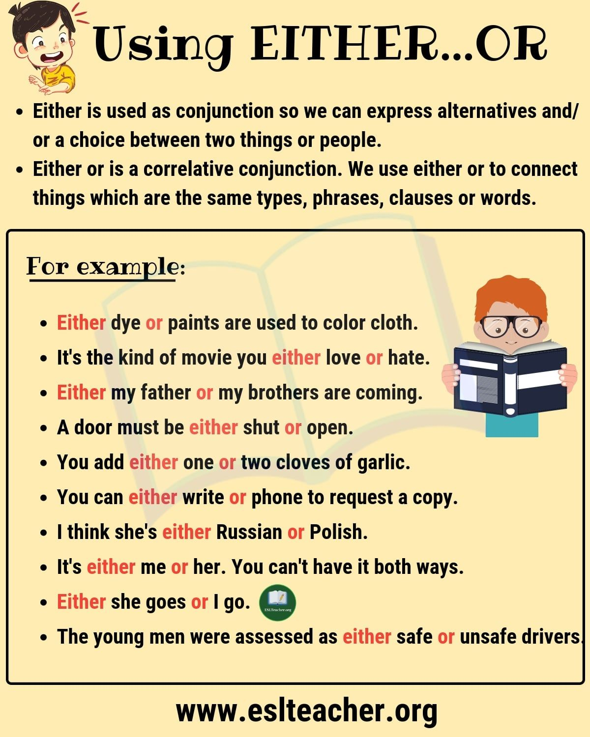 EITHER OR How to Use Either Or in a Sentence Learn