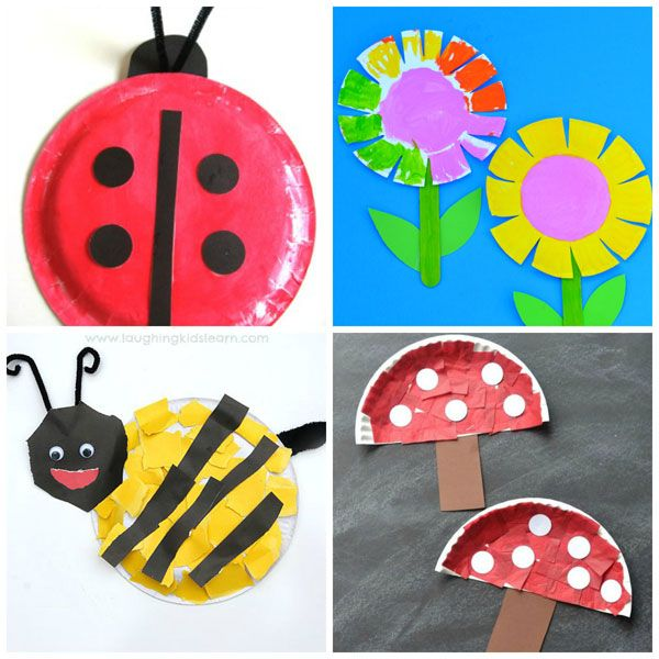 Paper Plate Spring Crafts For Kids Ladybug Flowers Bee And Mushrooms Easy Toddlers Preschool