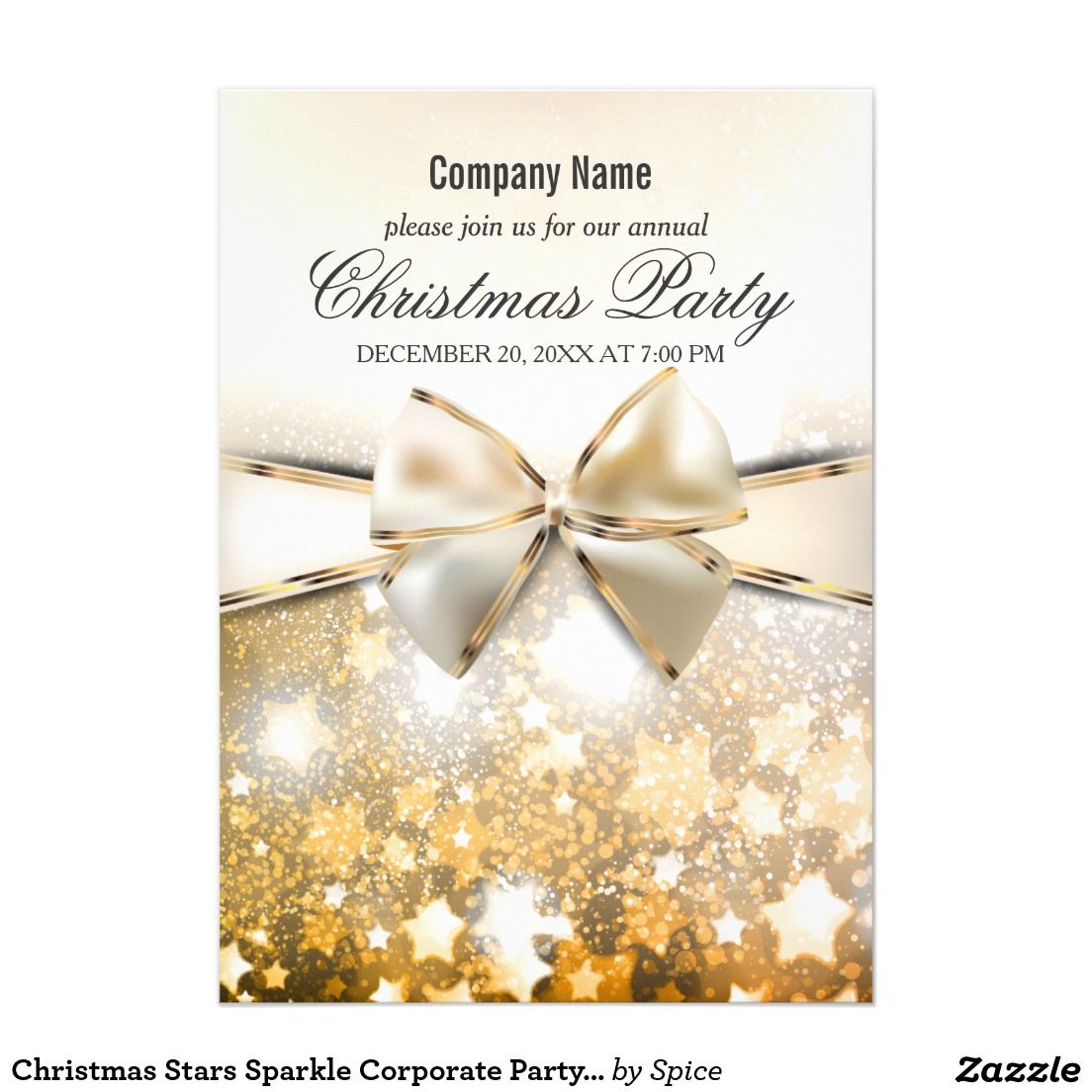 Christmas Stars Sparkle Corporate Party Invitation | Holiday Board ...