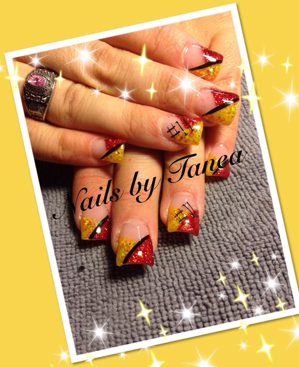 Chiefs nails. Nails 2013. Gel nails. Nailed by Tanea | My gels ...