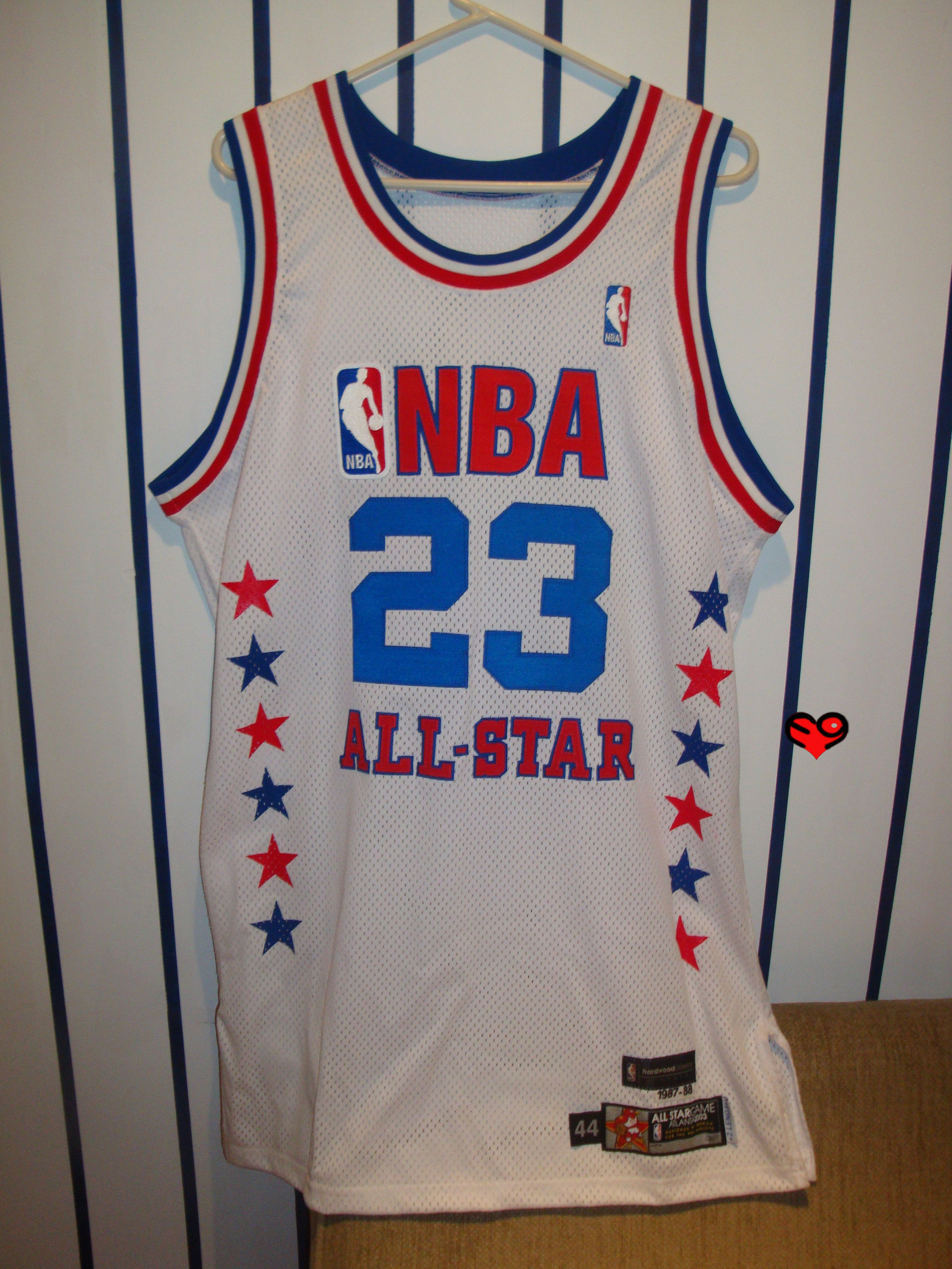 innovative design 30bd5 70526 2003 Jordan Authentic All Star Jersey (front) | Michael ...