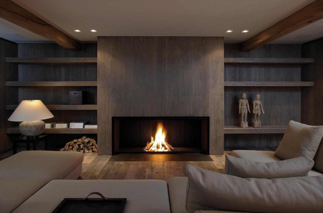 Fireplace de puydt foyer gaz foyer bois dream home chemin e foyer feu ouvert et - Deco cheminee interieur ...