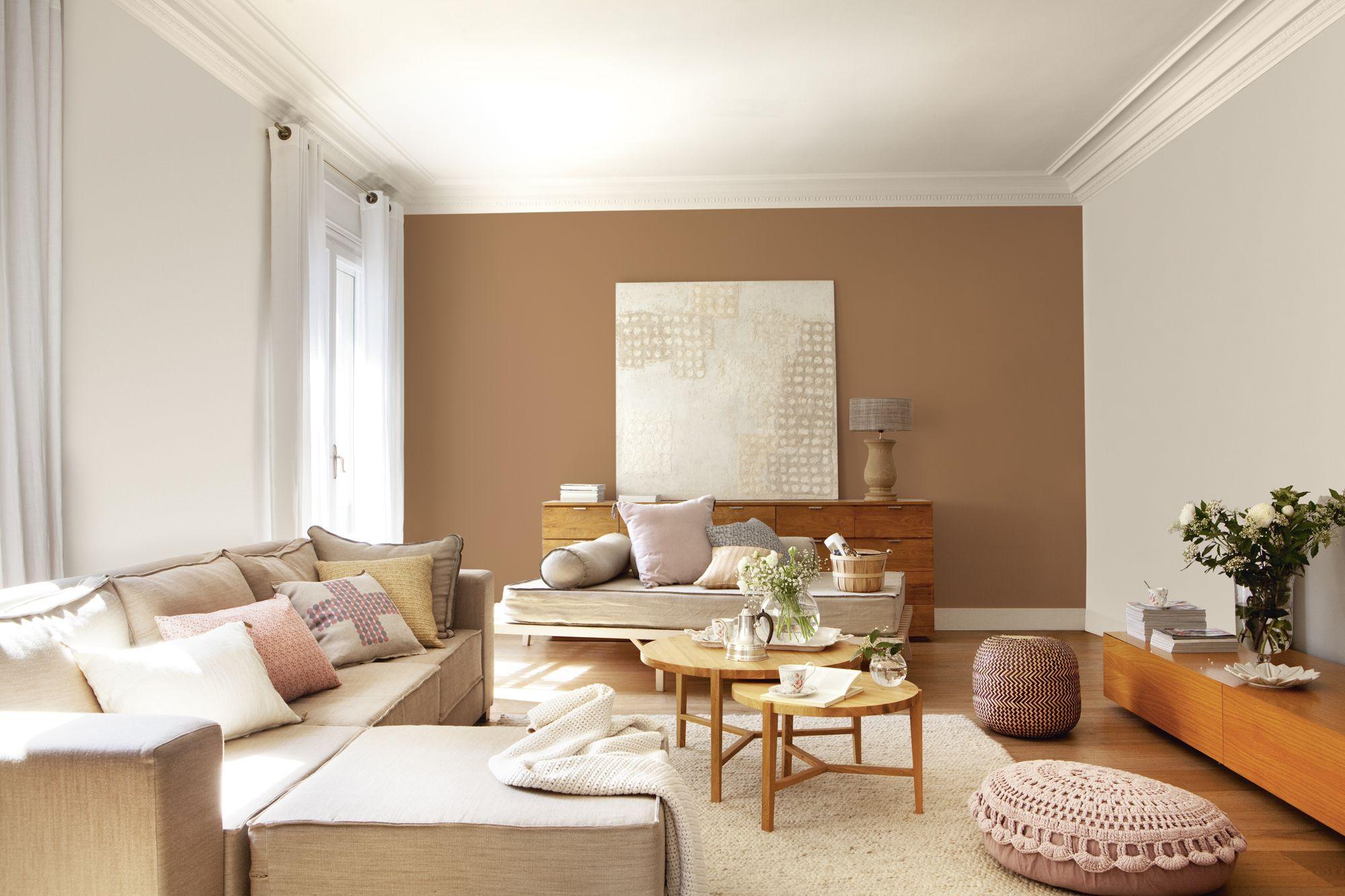 Mira cómo cambia este salón solo con la pintura