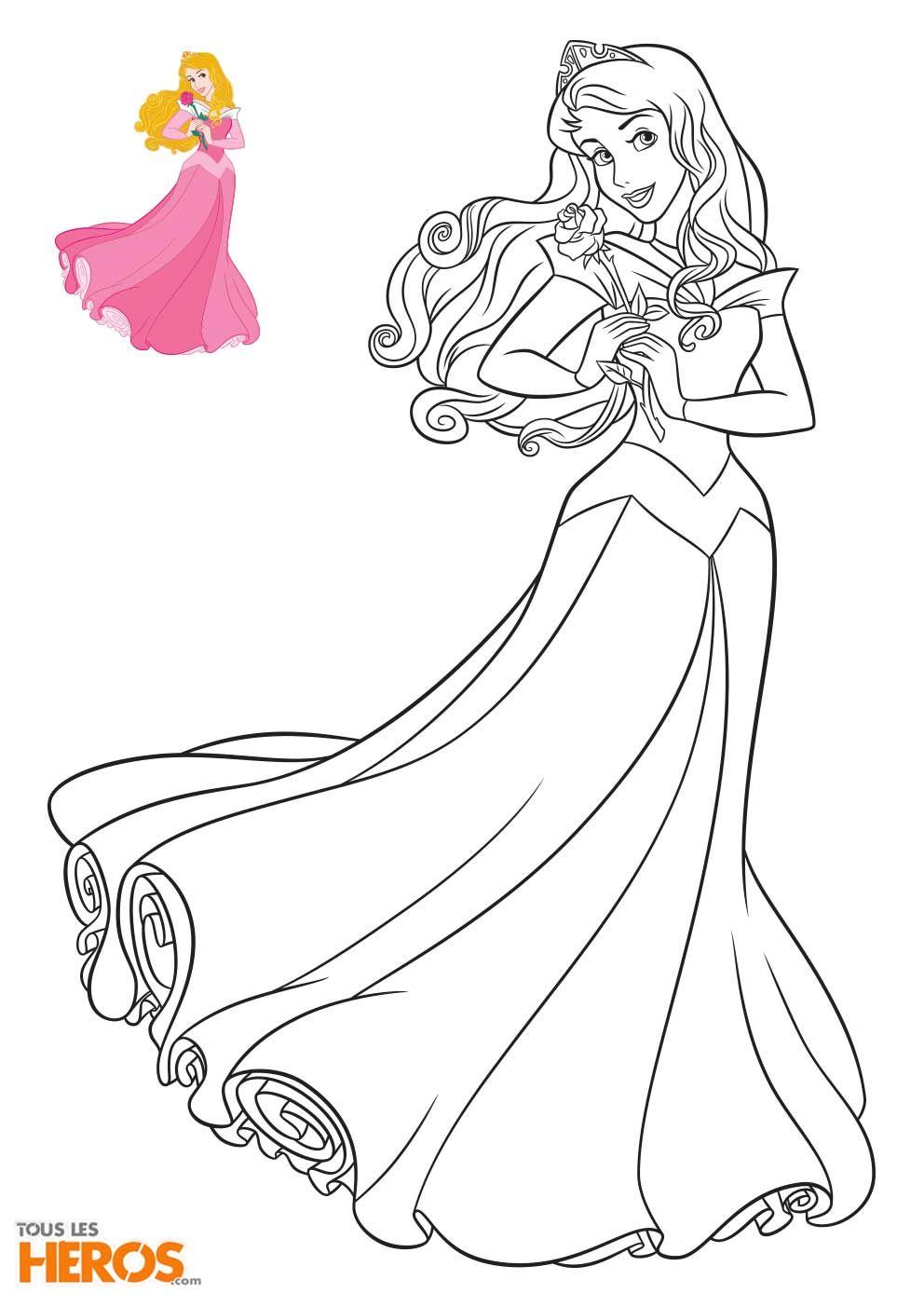 cool 6 Coloriage Princesses Disney à Imprimer en 6  Coloriage