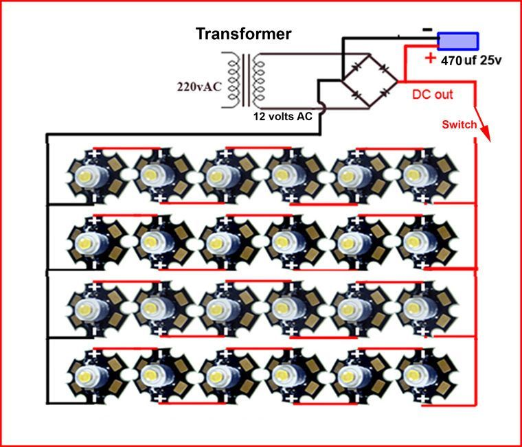 Image Result For 1w 25 Led Lights Driver Circuit Led Lighting Diy Led Lights Electrical Projects