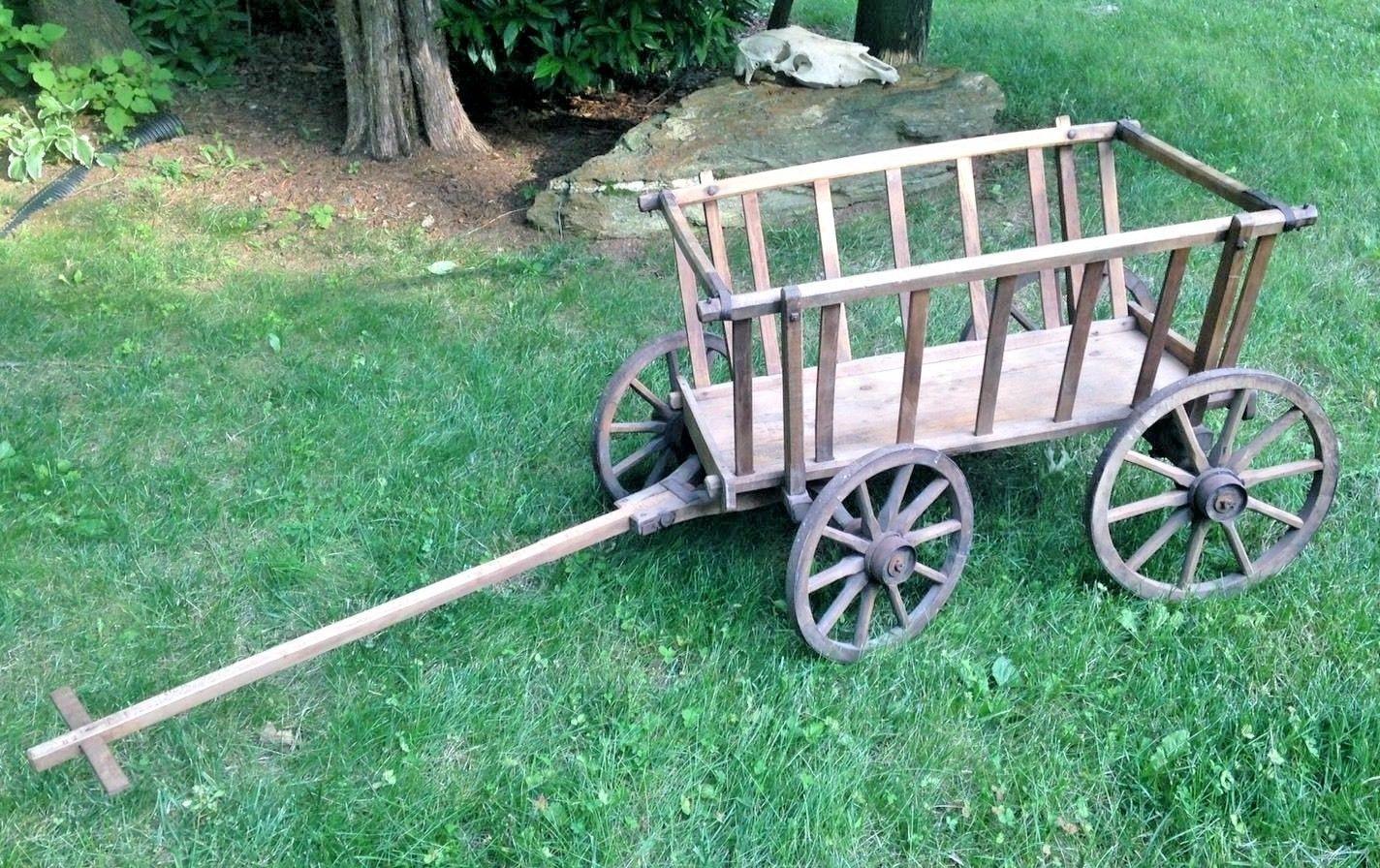 wagons carts inch garden supply wheels medium yard cart with gardening