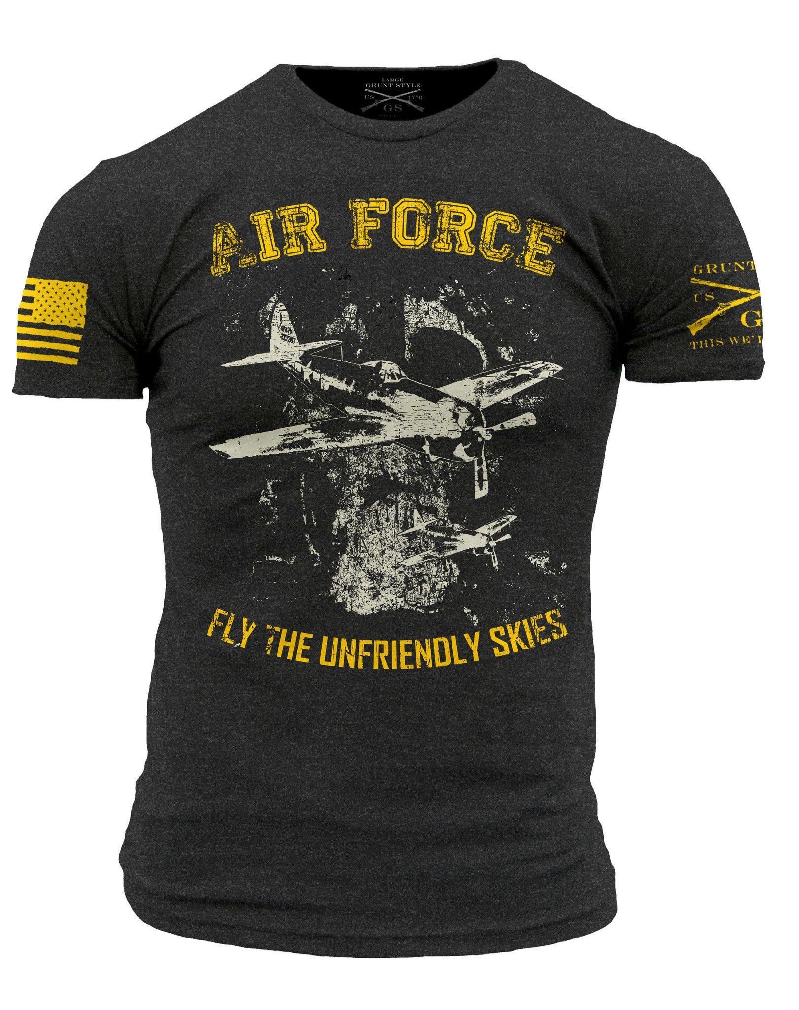 Air Force Branch TShirt Grunt Style Men's Short Sleeve