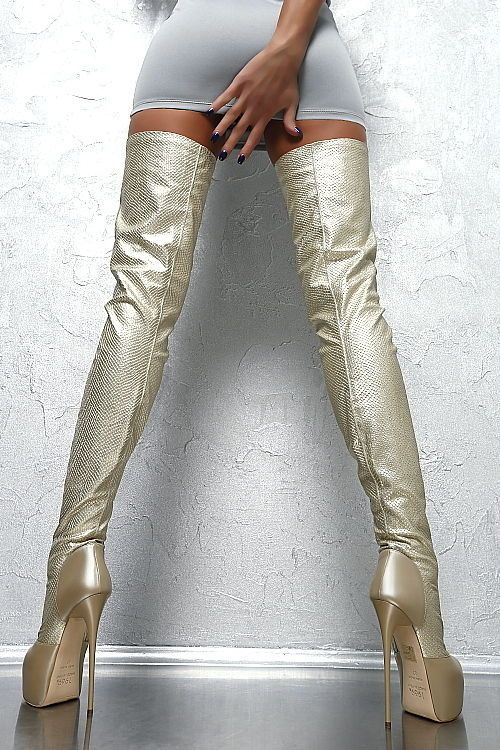 1969 ITALY LEDER HOHE Overknee Lang Stiefel Stretch Boots