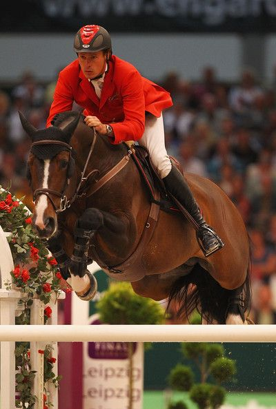 Christian Ahlmann of Germany riding Taloubet Z pictured in action during the Rolex FEI World Cup Jumping Final 2011 at the Messegelande on April 30, 2011 in Leipzig, Germany.