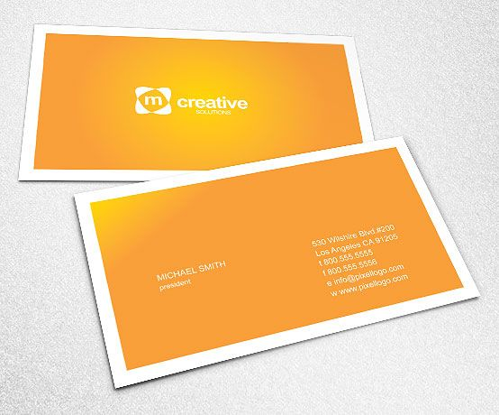 An Orange Business Card Design #businesscard #design $1499 - creatives buro design adobe