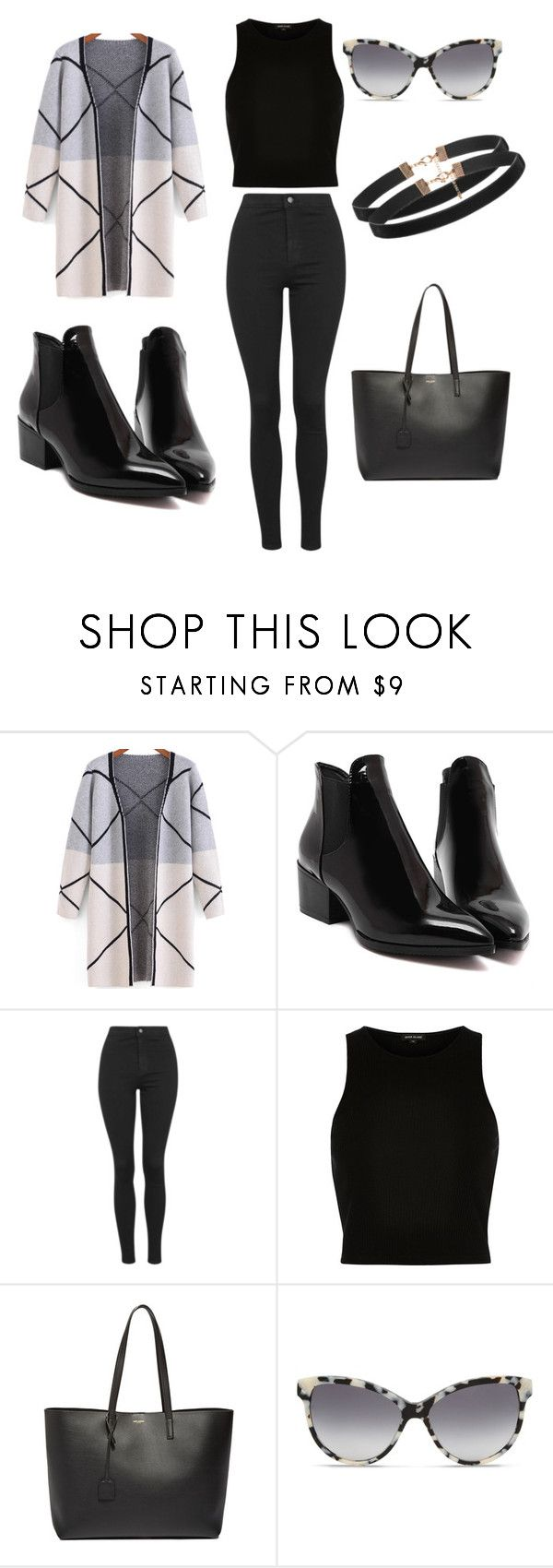 """Untitled #13"" by molly-mahaffey on Polyvore featuring Topshop, River Island, Yves Saint Laurent, STELLA McCARTNEY, women's clothing, women, female, woman, misses and juniors"