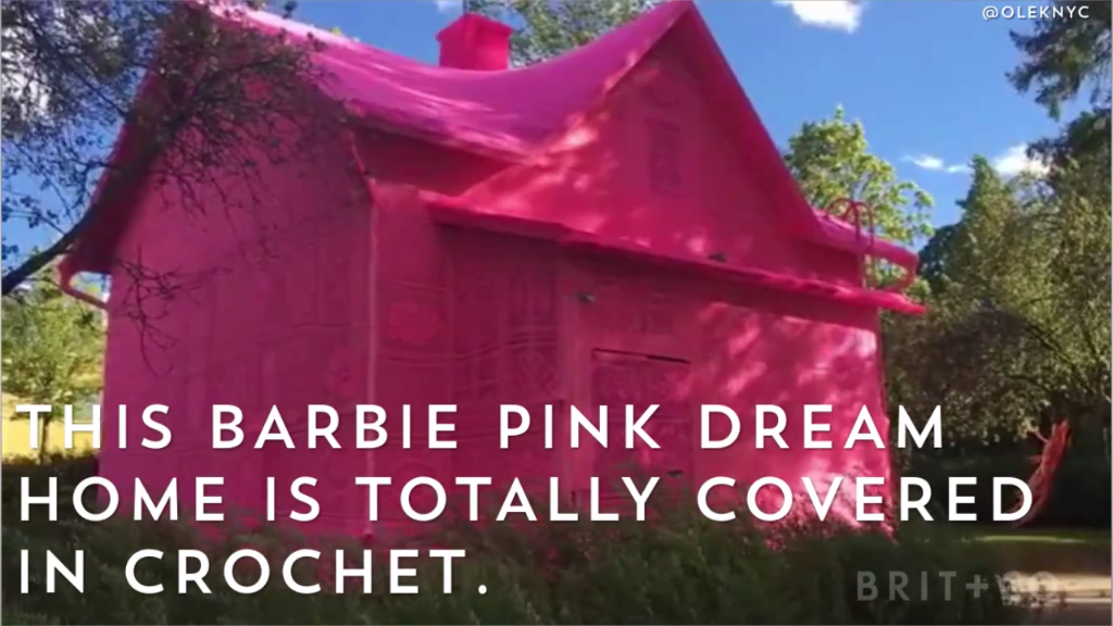 Photo of How amazing is this pink crochet house?!