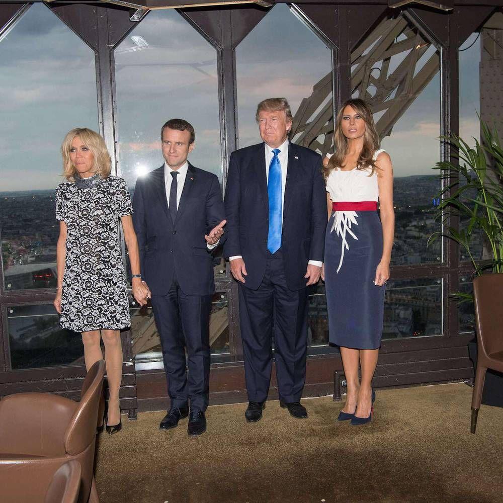 Brigitte Macron et Melania Trump un dîner à Paris