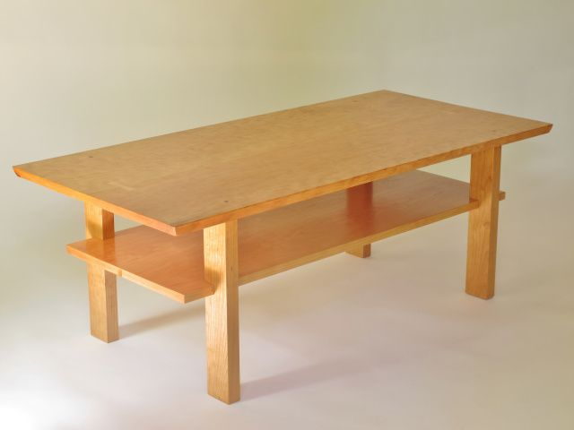 wood coffee table in cherry coffee table with storage shelf inset rh pinterest com