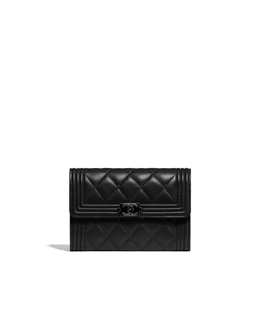 681f4a7f6c1f Boy Chanel small flap wallet, lambskin-black - CHANEL | Shoes ...