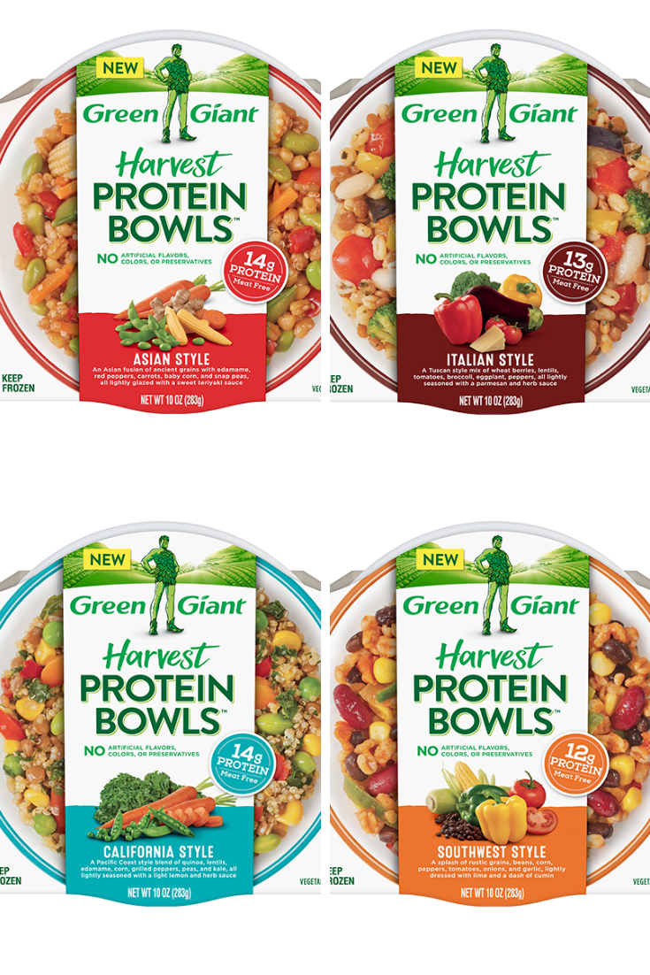 Our Green Giant Harvest Protein Bowls Are Tasty Blends Of Vegetables And Whole Grains That Make For A Quick N Protein Bowls Green Giant Quick Nutritious Meals