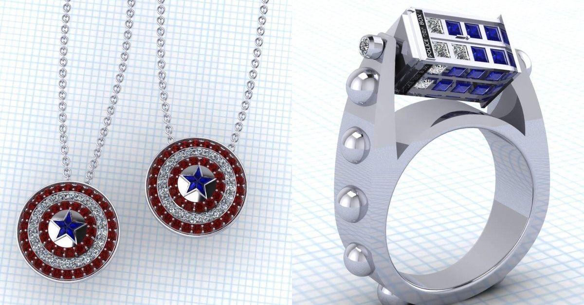 Custommade jewelry designs for fancy nerds Star